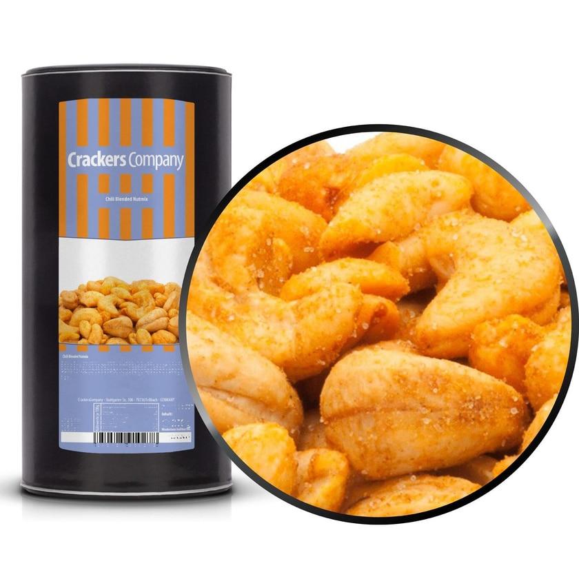 Chili Blended Nutmix - Scharfe Erdnuss & Cashew Mix - Membrandose groß 700g
