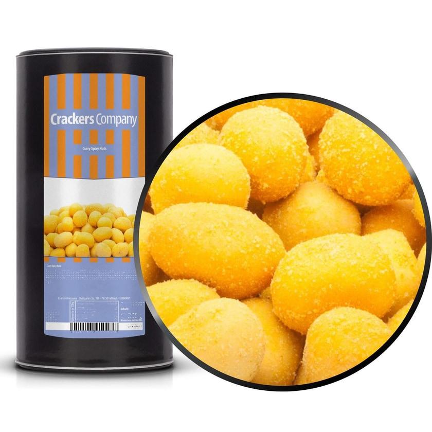 Curry Spicy Nuts - Indische Curry-Erdnuss - Membrandose groß 600g