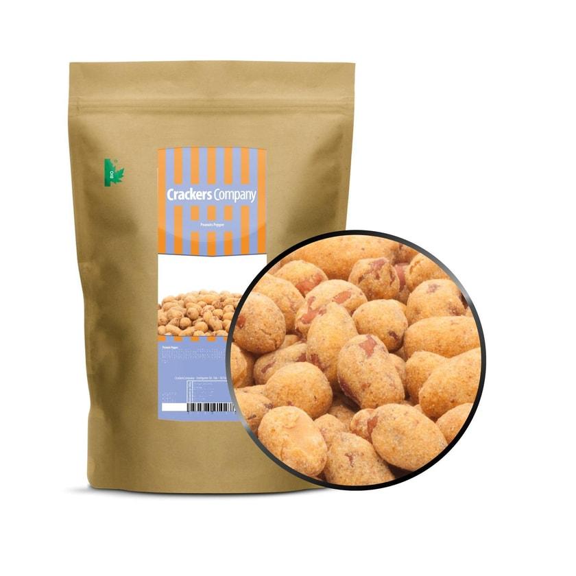 Peanuts Pepper - Erdnuss mit würzig scharfer Pfefferhülle - ZIP Beutel 500g
