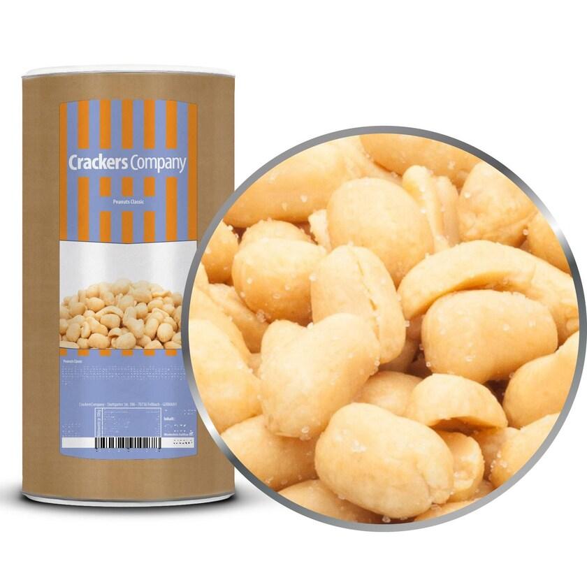 Peanuts Classic - geröstete Erdnüsse gesalzen mit Meersalz - Membrandose groß 700g