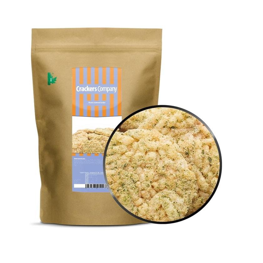 Risotto Seaweed Cracker - Mediterran gewürzte Seegras-Reiscracker - ZIP Beutel 125g
