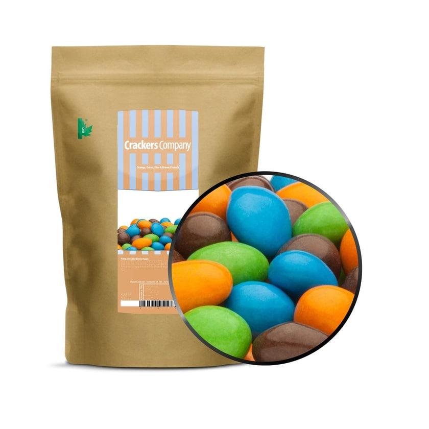 Orange, Green, Blue & Brown Peanuts - Schokonüsse Orange, Grün, Blau und Braun - ZIP Beutel 750g