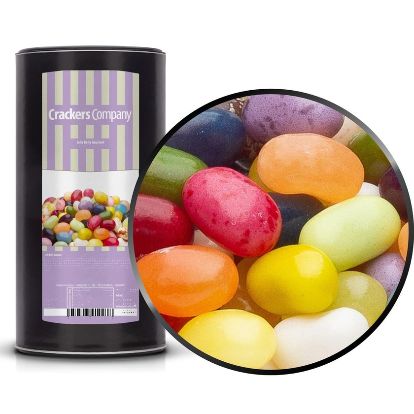 Jelly Belly Gourmet - Fruchtige Jelly Belly Bohnen Mischung - Membrandose groß 1,15kg