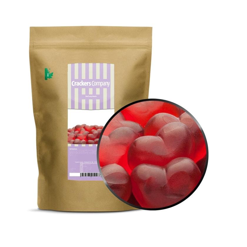 Red Fruity Hearts - Rote Himbeerfruchtsaft Herzen - ZIP Beutel 700g
