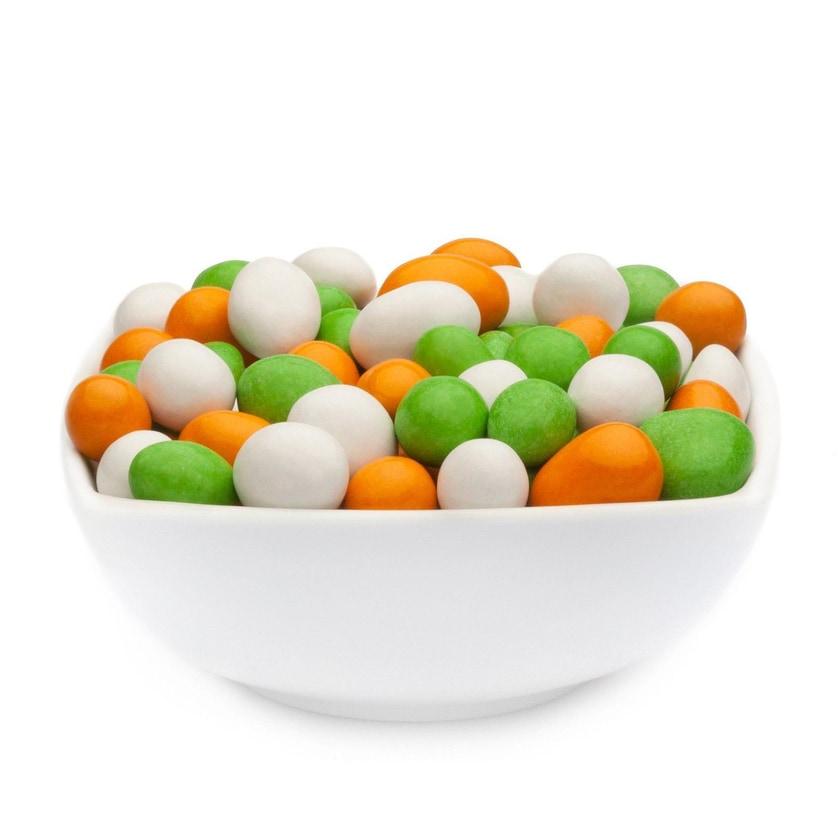 White, Orange & Green Peanuts - Vollmilchschokonüsse Weiß, Orange & Grün - Vorratspackung 5kg