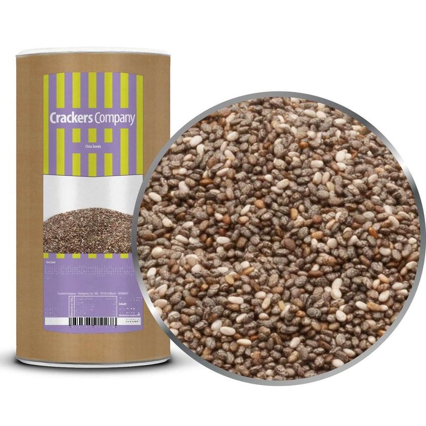 Chia Seeds - Unbehandelte, mexikanische Chiasamen - Membrandose groß 850g