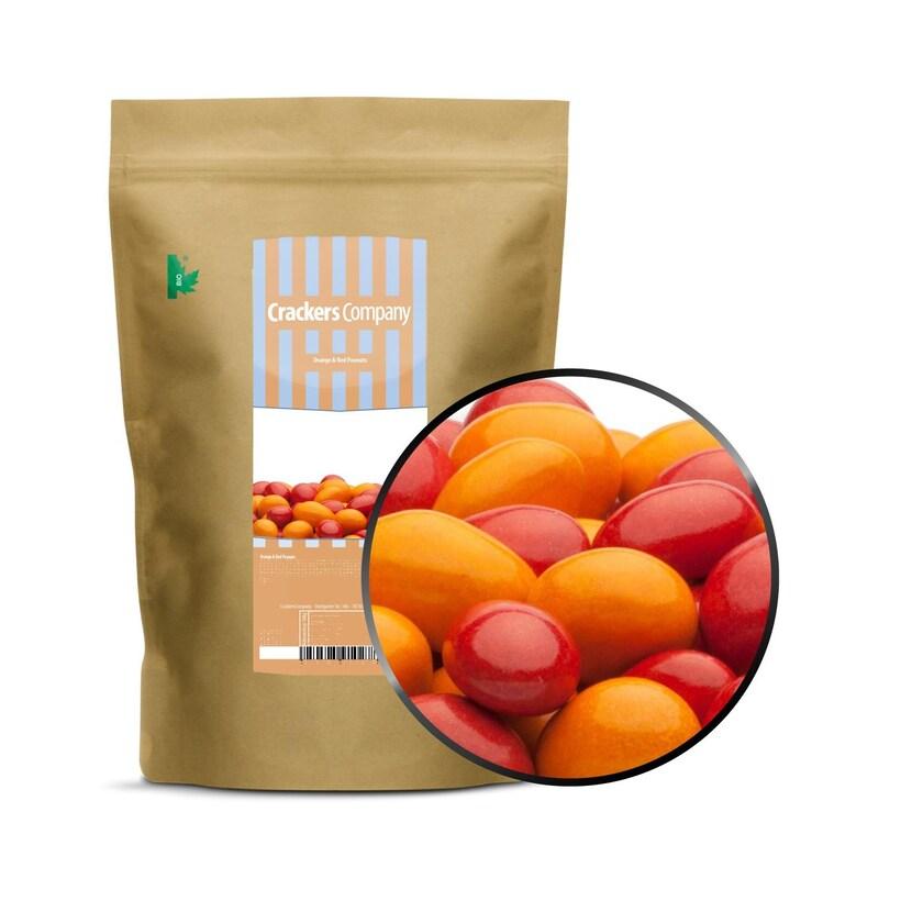 Orange & Red Peanuts - Vollmilchschokolade Orange und Rot - ZIP Beutel 750g