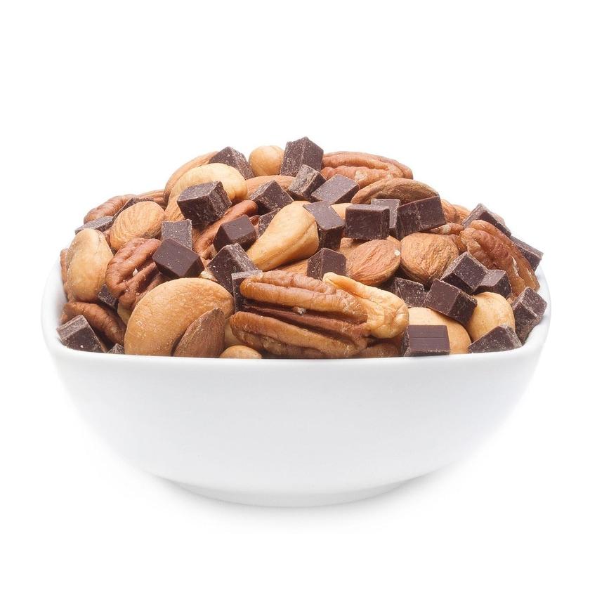Dark Choco Nut Medley - Nussmischung mit Zartbitterschokolade - Vorratspackung 3kg