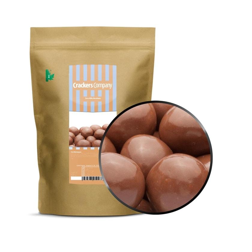 Choco Milky Macadamia - Macadamia in Vollmilchschokolade - ZIP Beutel 600g