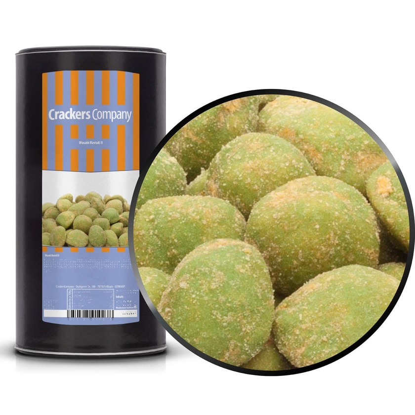 Wasabi Ravioli II - Erdnuss mit knuspriger Wasabi Hülle - Membrandose groß 500g