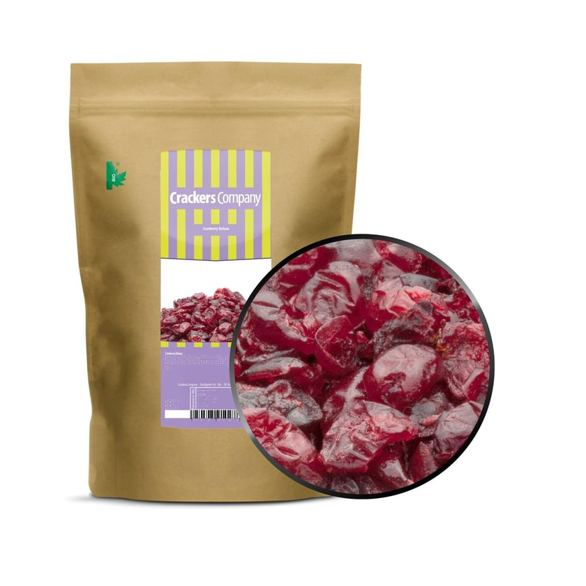 Cranberry Deluxe - Fruchtig saftige Cranberries - ZIP Beutel 600g