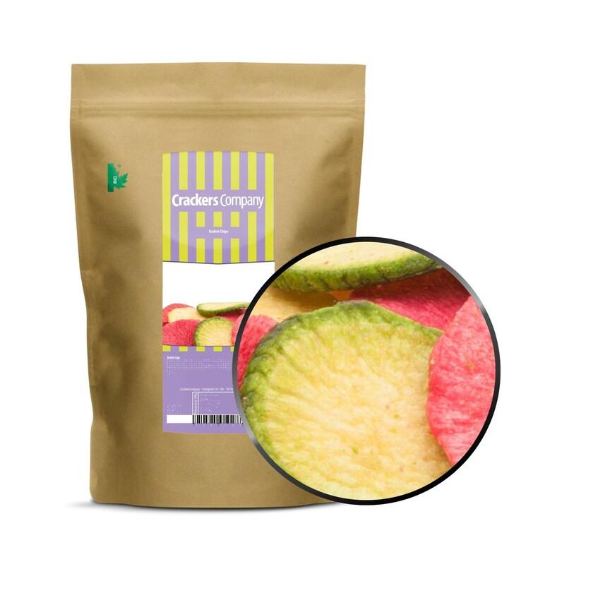 Radish Chips - Rettich Chips grün & rot - ZIP Beutel 125g