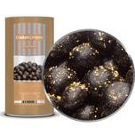 Black & Gold Choco Peanuts - Schoko-Erdnüsse mit echtem Goldglitter - Membrandose groß 950g