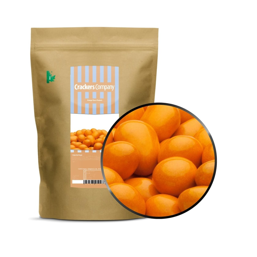 Orange Choco Peanuts - Erdnüsse in Vollmilchschokolade Orange - ZIP Beutel 750g