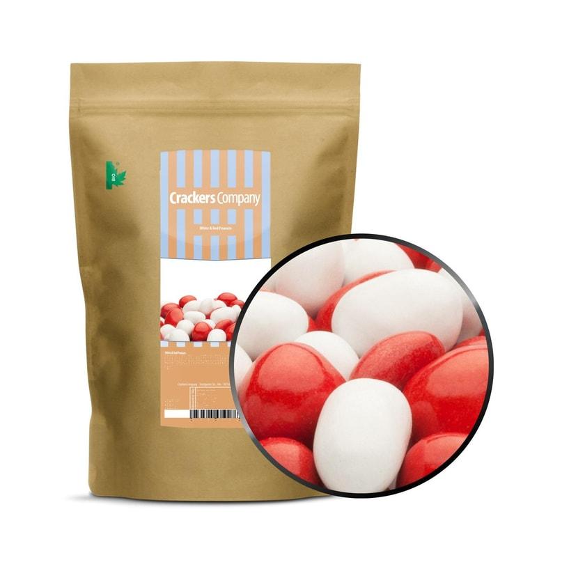 White & Red Peanuts - Vollmilchschokonüsse Weiß und Rot - ZIP Beutel 750g