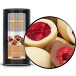 Raspberry Twins - Himbeeren in Milchschokolade - Membrandose groß 700g