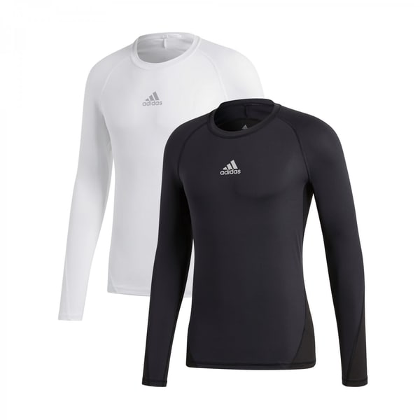 adidas Jungen Langarm Shirt ALPHASKIN TECHFIT 2Pack