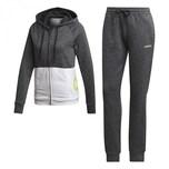 adidas Damen Trainingsanzug Linear Hoodie French Terry Tracksuit