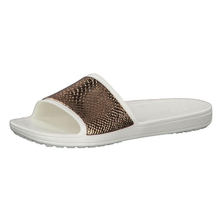 Crocs Damen Sandale Sloane MetalText Slide 205737