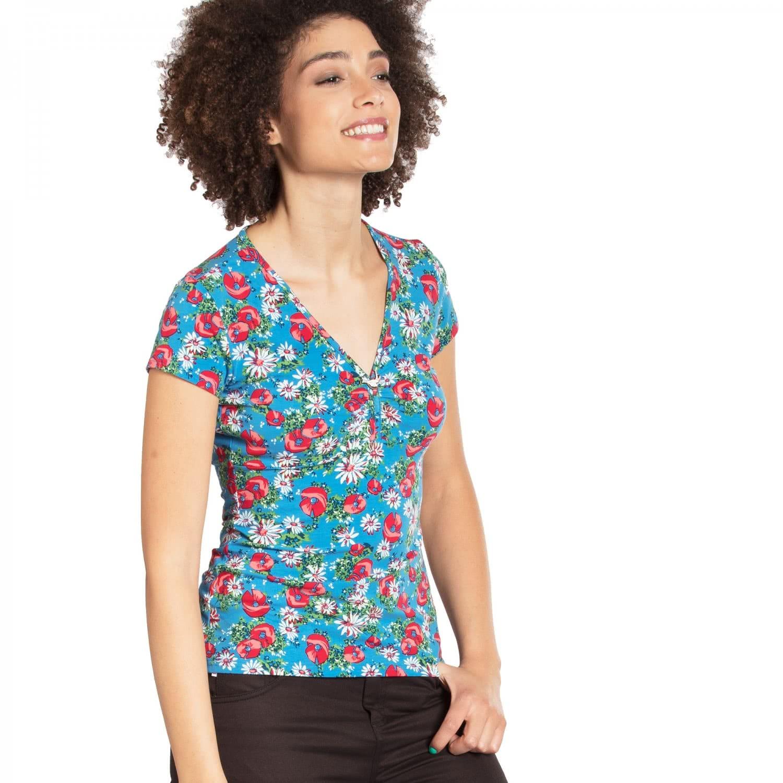 Blutsgeschwister Damen T-Shirt frontluke tee 001181-336