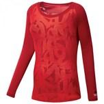 Reebok CrossFit Damen Langarmshirt Burnout LS Tee