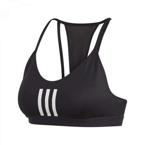 adidas Damen Sport BH All Me 3 Stripe Mesh Bra
