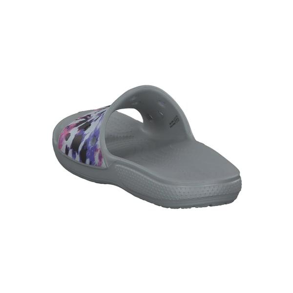 Crocs Damen Badeschlappen Classic Crocs Tie-Dye Mania Slide 206481