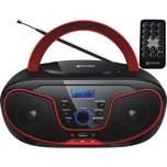 Ecosa CD-Player CD/MP3 USB Fernbedienung rot