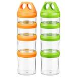 Ecosa Variable Vorratsdosen Frischhaltedosen BPA Frei 916 ml grün und orange