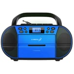 Cyberlux CD-Player mit Kassettendeck USB blau