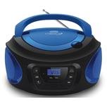 Cyberlux CD-Player CD/MP3 USB AUX IN blau
