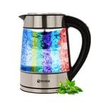 Ecosa EO-650 Wasserkocher mit Temperatureinstellung Integriertes Teesieb LED Beleuchtung 2200 W 1,7 L