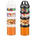 Ecosa Variable Vorratsdosen Frischhaltedosen BPA Frei 916 ml schwarz und weiß