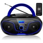 Ecosa CD-Player CD/MP3 USB Fernbedienung blau