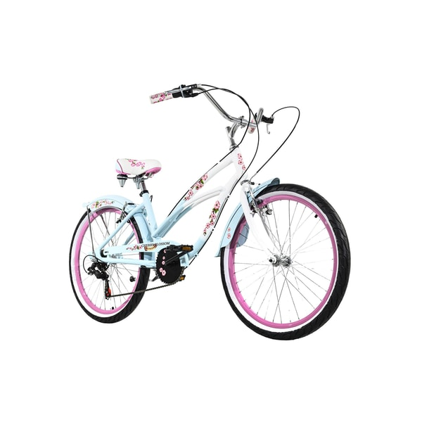 KS Cycling Jugendfahrrad Beachcruiser 24'' Cherry Blossom blau-rosa