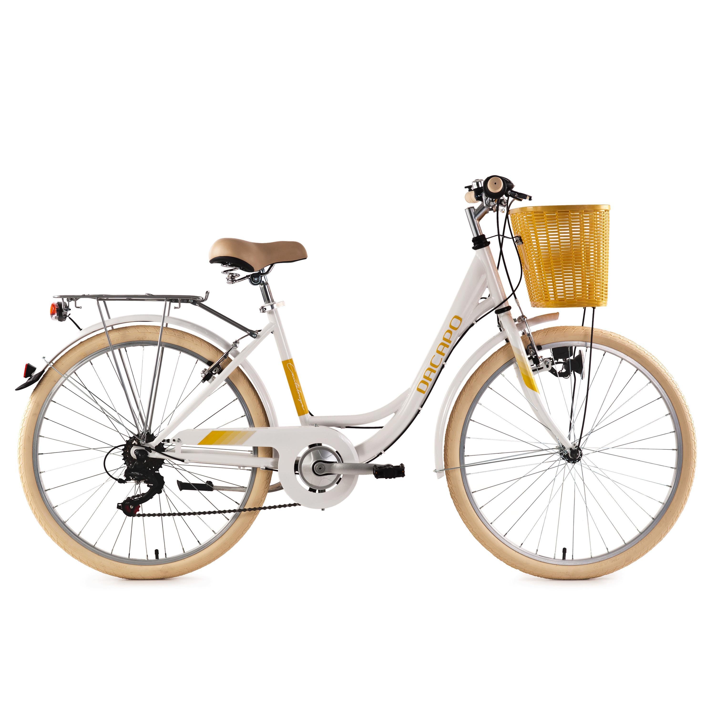 KS Cycling Damenfahrrad 26'' Cantaloupe mit Korb