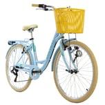 KS Cycling Cityrad 6-Gänge Cantaloupe 26 Zoll blau