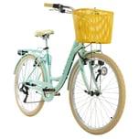 KS Cycling Cityrad 6-Gänge Cantaloupe 26 Zoll grün