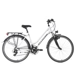 KS Cycling Trekkingrad Damenfahrrad Metropolis 21 Gänge 28 Zoll 53 cm weiß