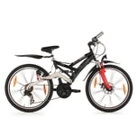 KS Cycling Jugendfahrrad Mountainbike ATB Fully 4Masters 24 Zoll