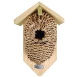 Esschert Design 3 Stück Nistkästen Vogelhäuser Mit Höhle Aus Seegras