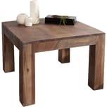 Dekotisch Indra Akazie Braun 60x60 cm Massivholz quadratisch Beistelltisch