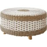 Beistelltisch Kelli Seegras Natur 105x105 cm Tisch