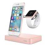 Belkin Valet Ladestation für iPhone und Apple Watch rosegold