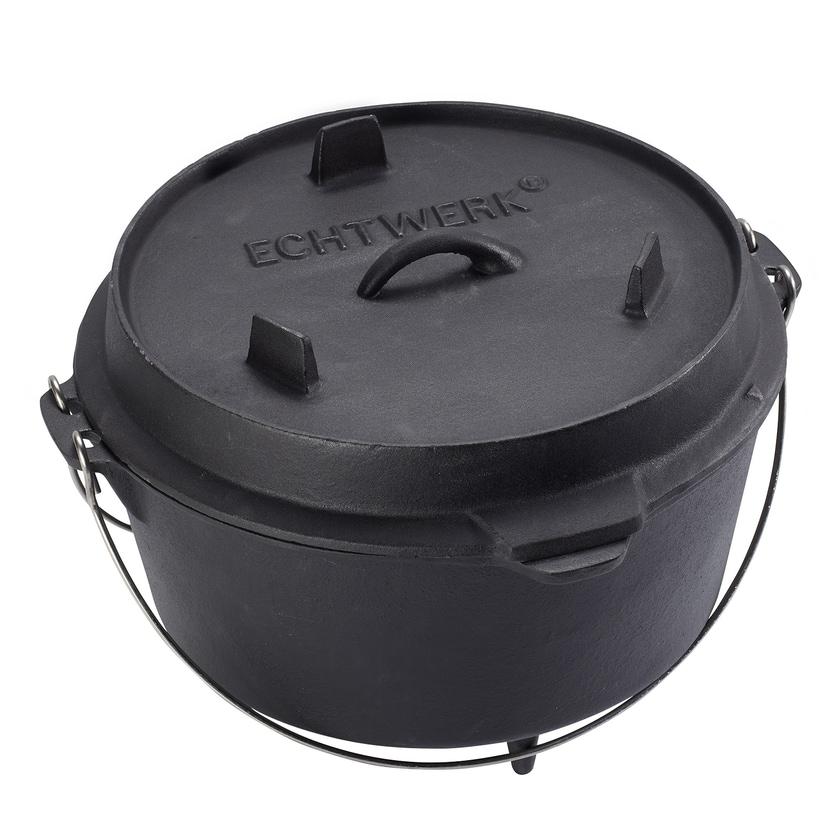 Echtwerk Gusseisen Dutch Oven 8l schwarz
