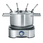 Severin 2-in-1 Fondue und Crepes-Automat FO 2409 silber