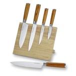 Echtwerk Damastmesser Set inkl. Magnet‐Messerblock aus Holz 5-teilig