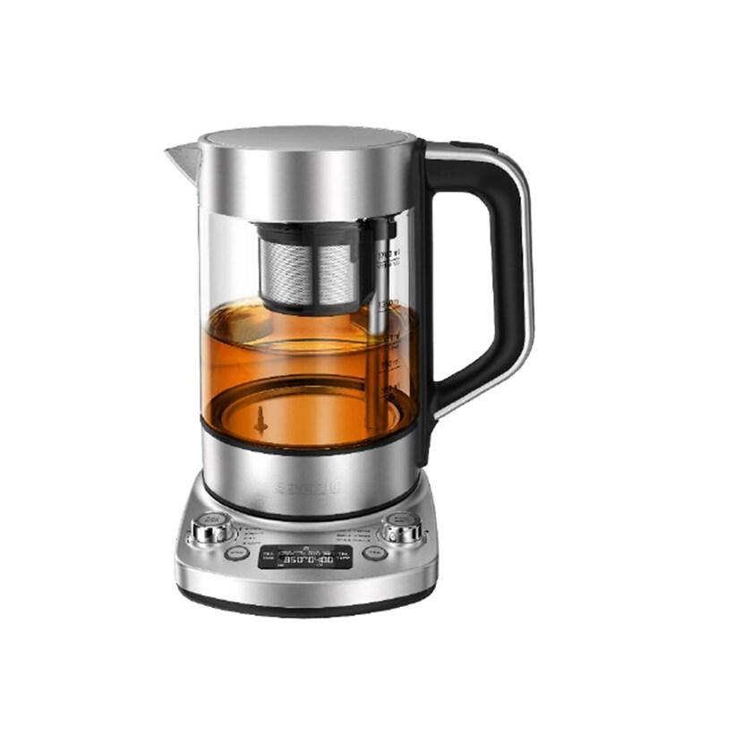 Severin WK 3422 Automatik Deluxe Tee- und Wasserkocher silber