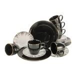 CreaTable 22100 Enjoy Black Style + Gold Kaffeeservice 18-teilig