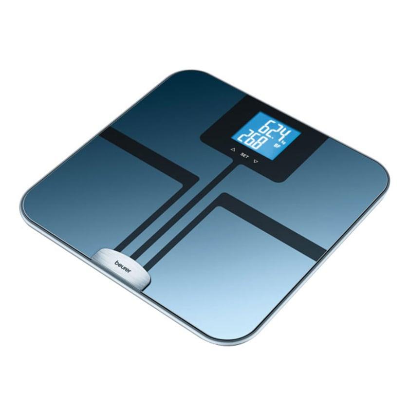 Beurer Glas Diagnosewaage BF 750 blau/schwarz